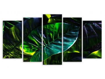 Tableau Feuilles Tropicales en Forêt Amazonienne, 150x80cm