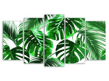 Tableau Tropical Feuille, 150x80cm