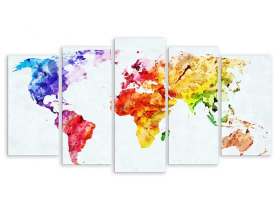 Tableau Color Map, 150x80cm