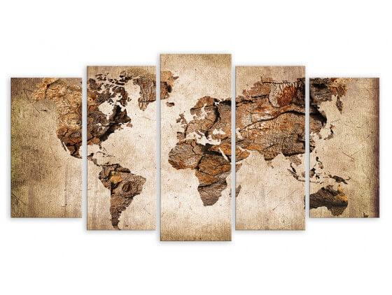 Tableau Brown Map, 150x80cm