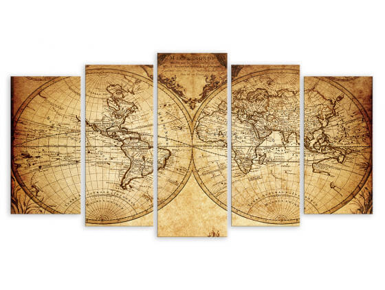 Tableau Old Map, 150x80cm