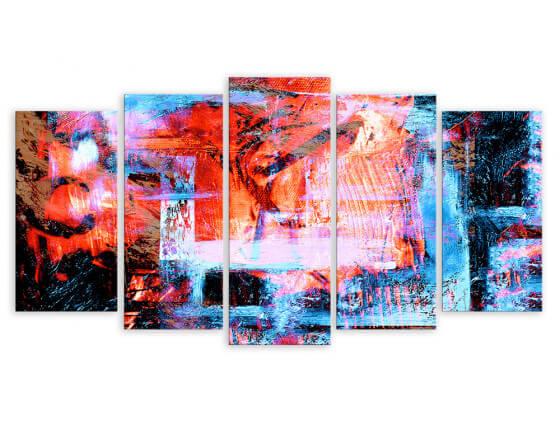 Tableau abstrait fenêtre sur couleurs, 150x80cm