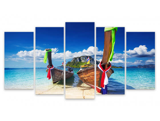 Tableau Photo Plage Paradisiaque Maya Bay Thailande, 150x80cm