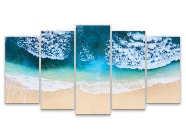 Tableau deco plage vue aerienne, 150x80cm