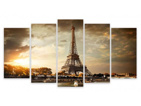 Tableau deco design Paris et sa Tour Eiffel, 150x80cm