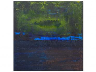 Tableau Abstrait Boreales bleues
