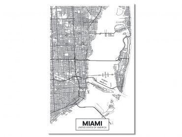 Tableau Deco Graphique Miami USA