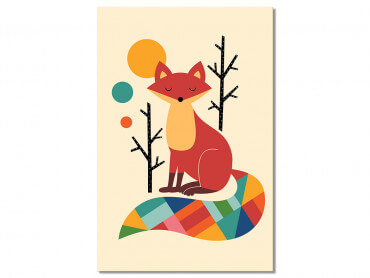 Tableau Enfant Rainbow Fox