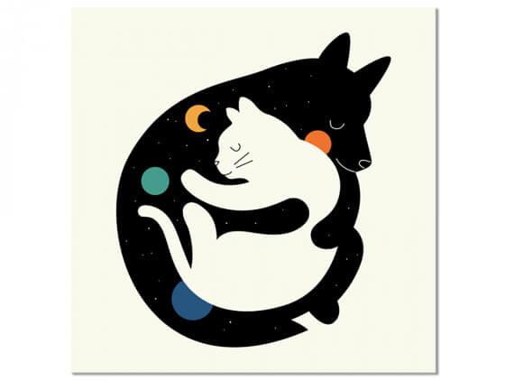 Tableau Enfant Hugs Cats