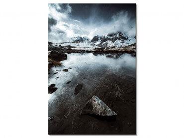 Tableau Paysage Face aux Alpes