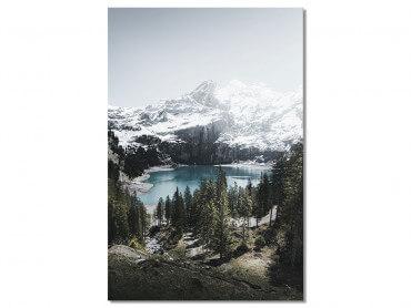 Tableau Paysage Lac de Montagne au Sommet