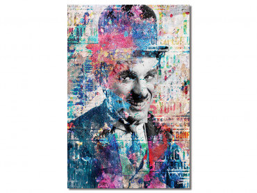 Tableau Illustration Graffiti Chaplin