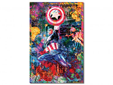 Tableau Graffiti Captain America