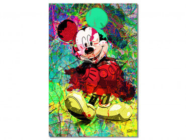 Tableau Graffiti Illustration Mickey