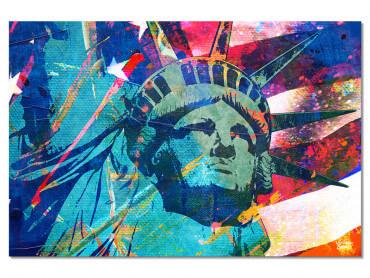 Tableau Illustration Graffiti statut de la Liberté