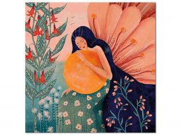 Tableau Deco Princesse aux fleurs