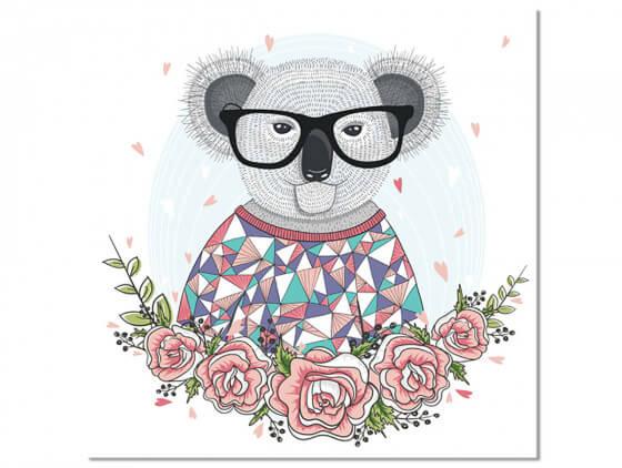 Tableau Enfant Hipster Koala