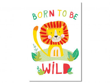 Tableau Enfant Lion Born to be Wild