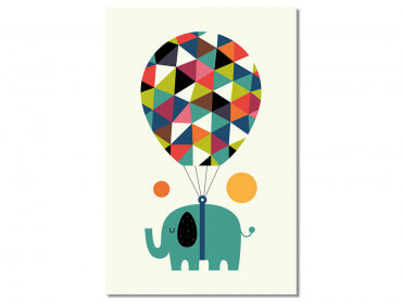 Tableau Enfant Hot Air Balloon Jumbo