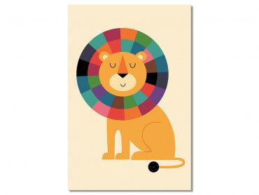 Tableau Enfant Rainbow Lion