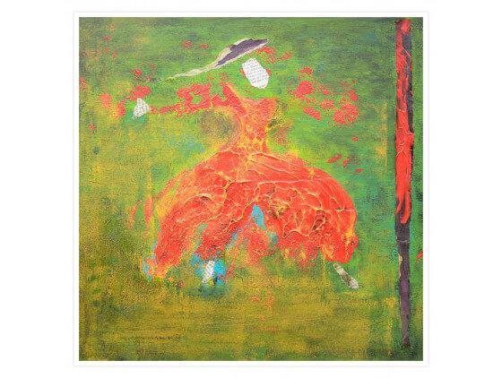 Affiche Abstrait Andalouse au chapeau