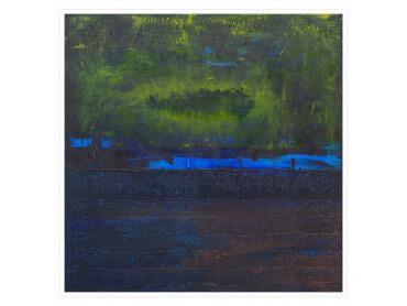 Affiche Abstrait Boreales bleues