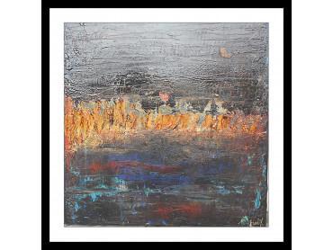 Affiche Abstrait Gris d'Argent