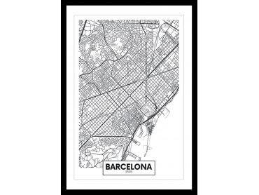 Affiche Deco Graphique Barcelona Spain