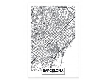 Affiche Deco Graphique Barcelona Spain
