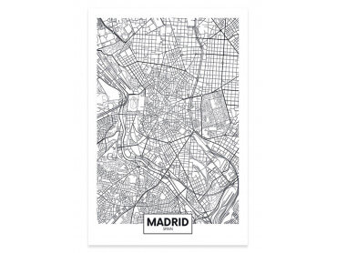 Affiche Deco Graphique Madrid Spain