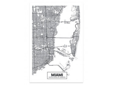 Affiche Deco Graphique Miami USA