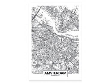 Affiche Deco Graphique Amsterdam Netherlands