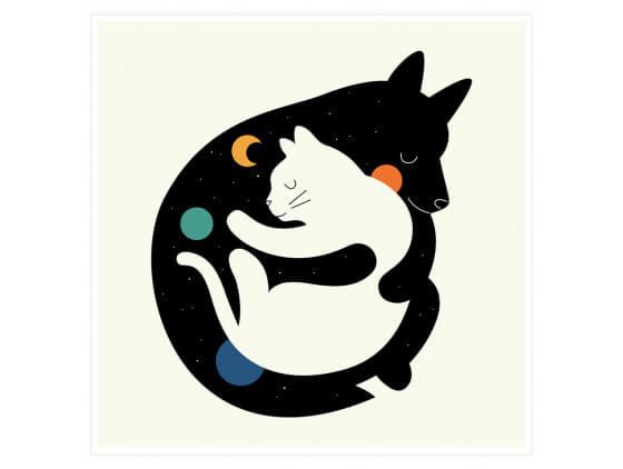Affiche Enfant Hugs Cats