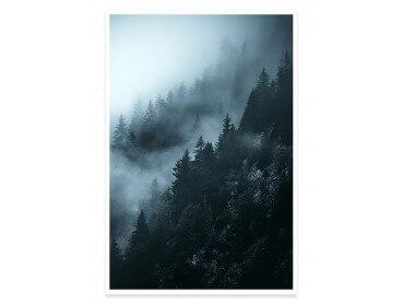 Affiche Paysage Suisse au petit matin