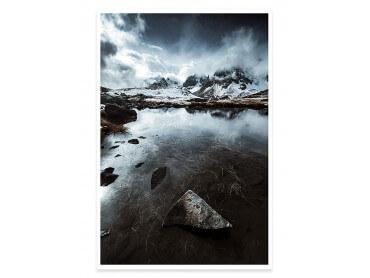 Affiche Paysage Face aux Alpes