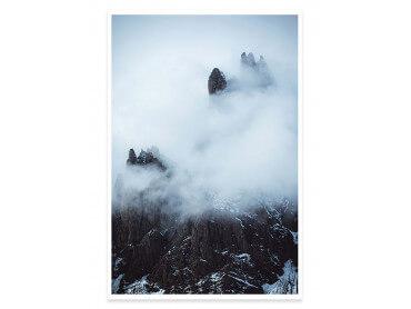 Affiche Paysage Tempête dans les Alpes Suisses