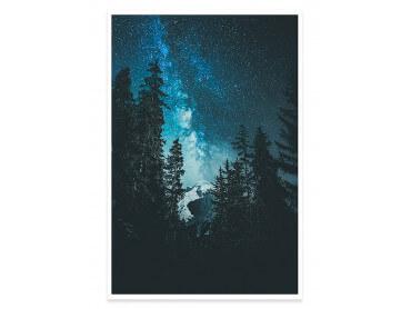 Affiche Paysage Voie Lactée Alpine