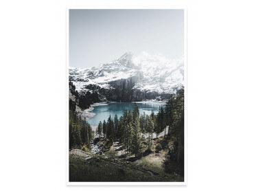 Affiche Paysage Lac de Montagne au Sommet