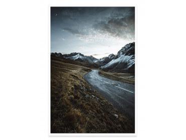 Affiche Paysage sur La route du Galibier