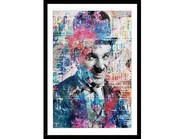 Affiche Illustration Graffiti Chaplin