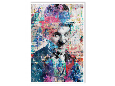 Affiche Illustration Graffiti Chaplin