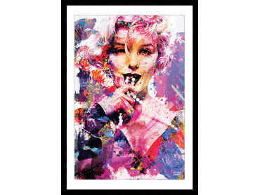 Affiche Illustration Graffiti Marilyn