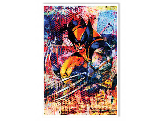 Affiche Wolverine Graffiti