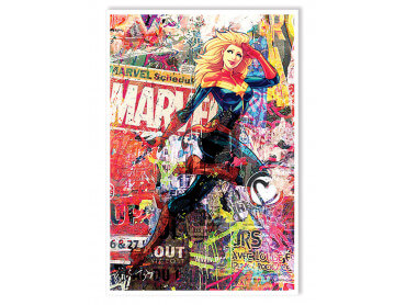 Affiche Illustration Graffiti Marvel