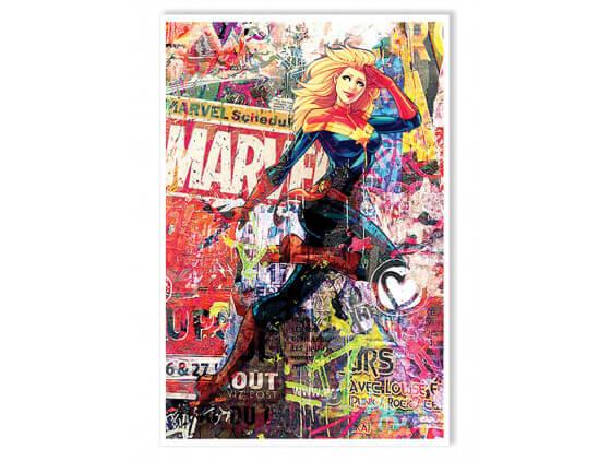 Affiche Illustration Graffiti Marvel