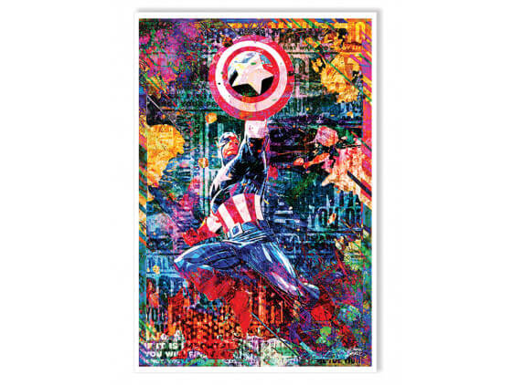 Affiche Graffiti Captain America