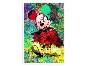 Affiche Graffiti Illustration Mickey