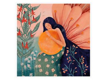 Affiche Deco Princesse aux fleurs