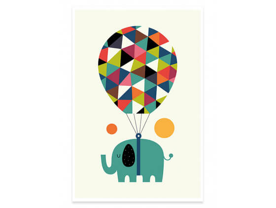 Affiche Enfant Hot Air Balloon Jumbo