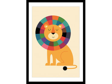 Affiche Enfant Rainbow Lion